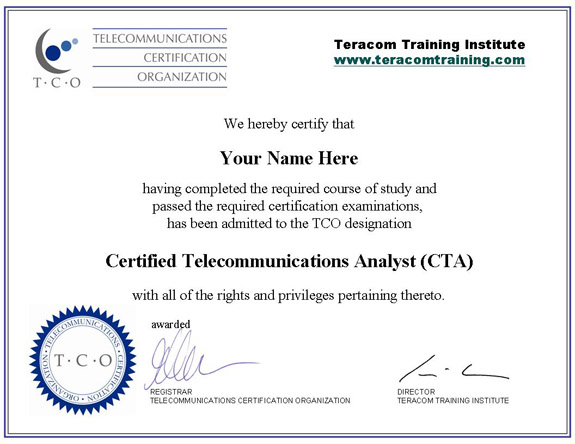 Course 2201 the pstn sample certificate xflitez Gallery